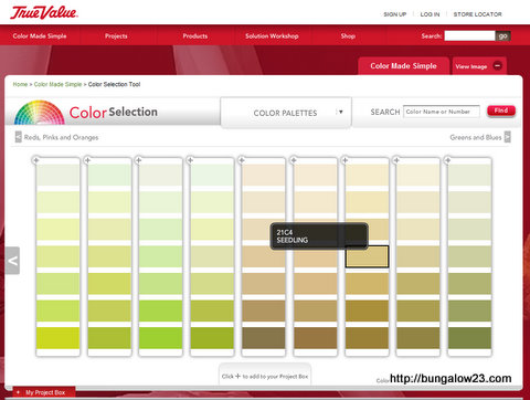 True Value color selection