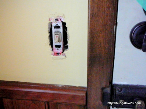 back door light switch