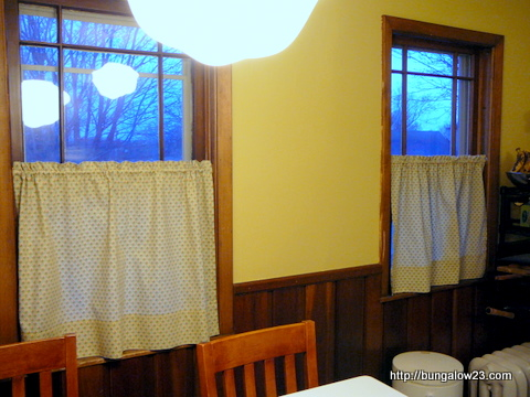 Curtains in the kitchen