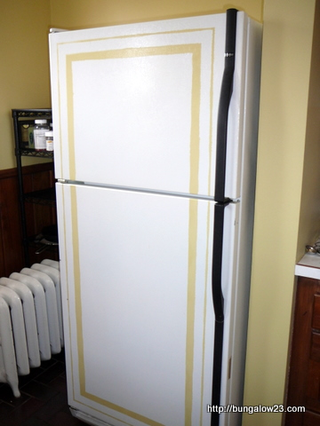 Paint lines on refrigerator