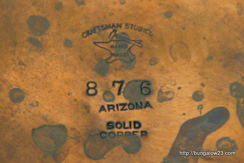 antique copper bowl marks