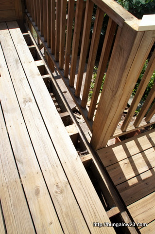 deck bench cut off