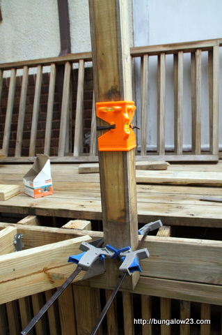 leveling deck railing post