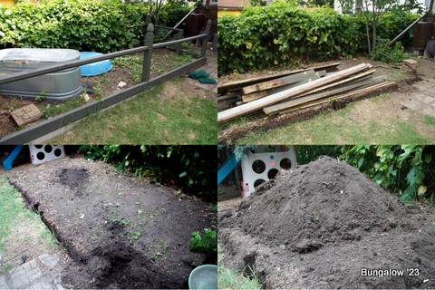 garden removal collage