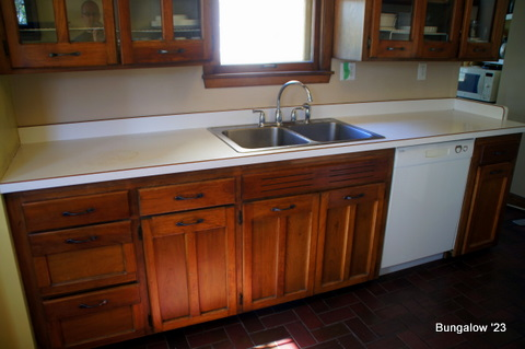 kitchen countertop, sink and backsplash: the plan