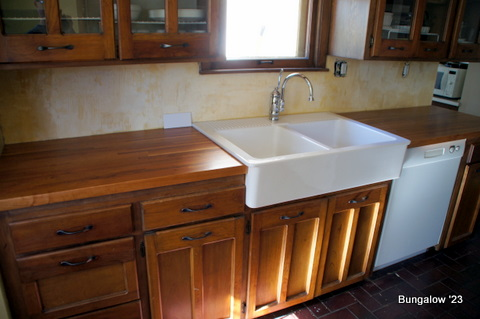 countertop and sink after