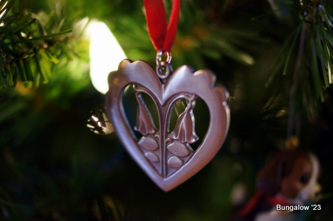 pewter heart ornament