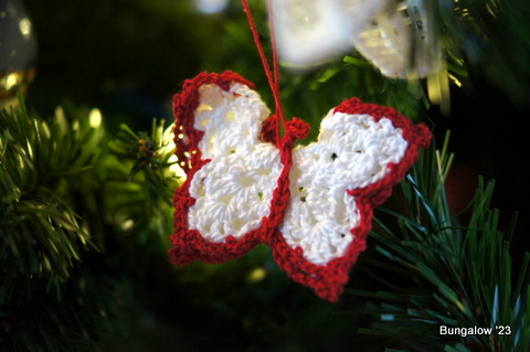 crochet butterfly ornament