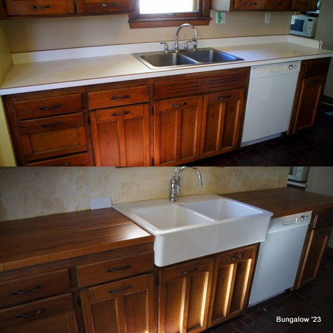 sink and counter comparison collage