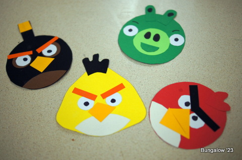Angry Birds Paper Characters