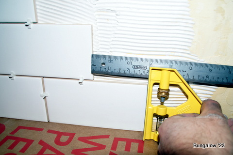 measuring tile row offset