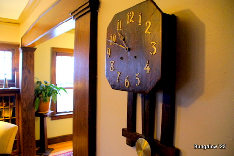 Antique clock in living room